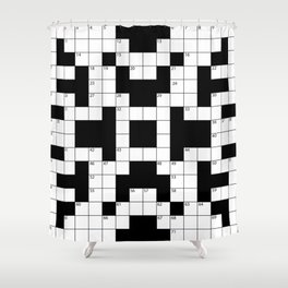 Cool Crossword Pattern Shower Curtain