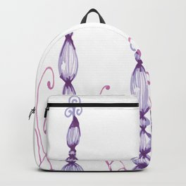 Freehand Chandelier Swirl Zentangle Doodle Design Backpack