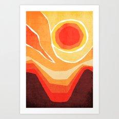 Modern Mid-Century Desert Sunset Art Print