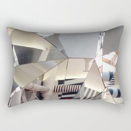 Venice, The Mirrored Cafe at The Biennale Rectangular Pillow