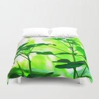 clover Duvet Covers featuring Clover by Bella Mahri-PhotoArt By Tina