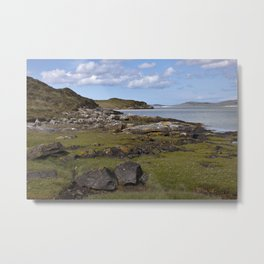 Harris Coastline Metal Print