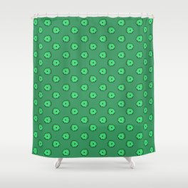 Green flowers on green Shower Curtain
