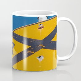 Railroad Sign-Film Camera Coffee Mug