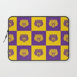 Purple and Gold Nine Tiger Cares Laptop Sleeve