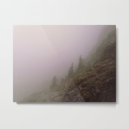 FOGGY BAVARIAN MOUNTAIN II Metal Print