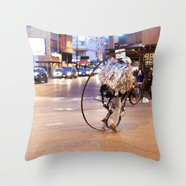 Performance Art on the Streets of Bucktown, Chicago 03 Throw Pillow