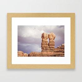 Twin Rocks Utah Framed Art Print