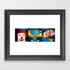 Coney Island x 3 Framed Art Print