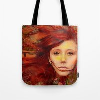 irish Tote Bags featuring Irish fairy by Joe Ganech