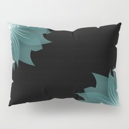 Blue flower on a black background . Pillow Sham