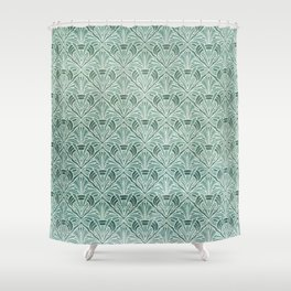 Art Nouveau Grunge Pattern Shower Curtain
