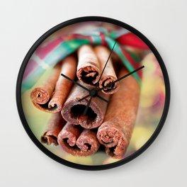 Cinnamon Sticks Wall Clock