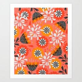 Sweet floral spring pattern Art Print