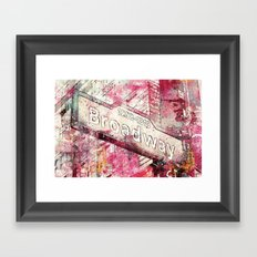 Broadway Framed Art Print