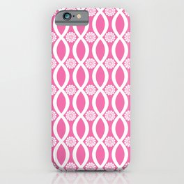 Floral Twist Pink iPhone Case