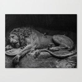 Lion Monument Canvas Print