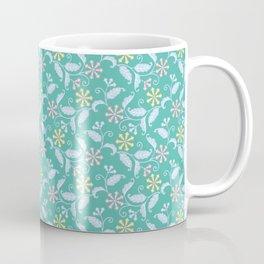 Modern Blossoms Floral in Aqua Coffee Mug