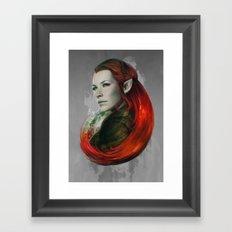 Head of Elven Framed Art Print