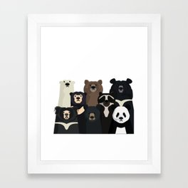 Bear family portrait Framed Art Print