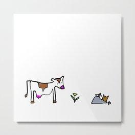 Cow. Metal Print