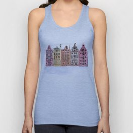 Coloured Houses Unisex Tank Top