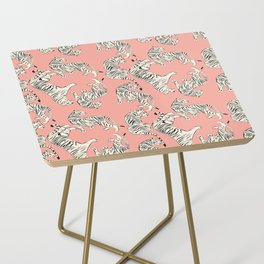 Pink Tiger Pattern 006 Side Table