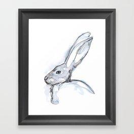 Rabbit, profile Framed Art Print