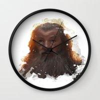 gandalf Wall Clocks featuring Gandalf by Ryky