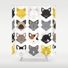 Cats, Cats, Cats Shower Curtain