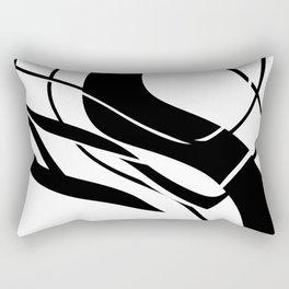 Organic No. 7 Black & White Graphic Art #minimalism #decor #society6 Rectangular Pillow