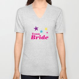 Bride team Unisex V-Neck