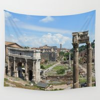 roman Wall Tapestries featuring Roman Forum (Rome, Italy)  by Limitless Design