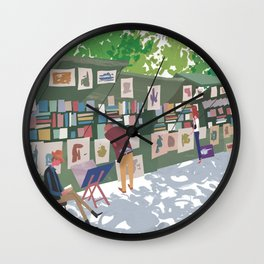 Bouquinisters Wall Clock
