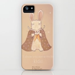 Christmas creatures- Bunny The Magician iPhone Case