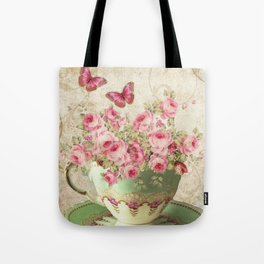 Tea Flowers #4 Tote Bag