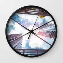 Looking up Sky Wall Clock