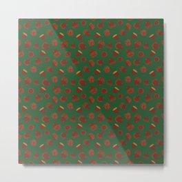 Acorns on Green Metal Print