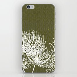 Olive Doodle Floral by Friztin iPhone Skin