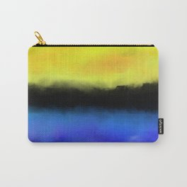 Separation - Abstract in black, blue and yellow Carry-All Pouch