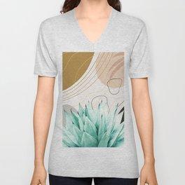 Abstract Agave Glam #2 #tropical #wall #decor #art #society6 Unisex V-Neck