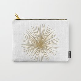 Gold Sputnik Orb Carry-All Pouch