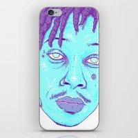 wiz khalifa iPhone & iPod Skins featuring WIZ by Mitch Meseke