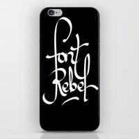 font iPhone & iPod Skins featuring Font Rebel by luis acosta