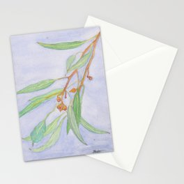 Gum leaves watercolour Stationery Cards