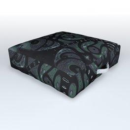 Dark Mandala #4 Outdoor Floor Cushion