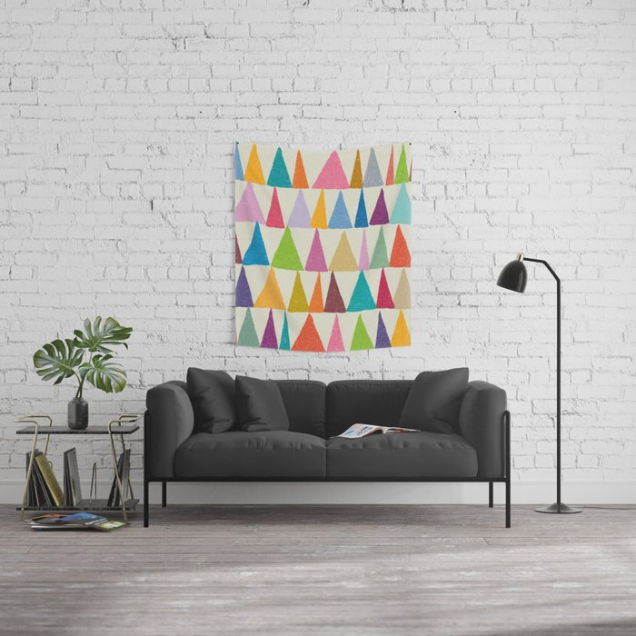 Analogous Shapes In Bloom. Wall Tapestry