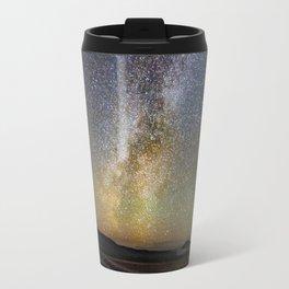 Grand Prismatic Spring Under The Milky Way Travel Mug