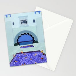 Scallop pool Stationery Cards