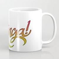 bazinga Mugs featuring Bazinga! by Spooky Dooky